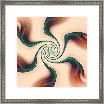 Gentle Swirls Framed Print by Anastasiya Malakhova
