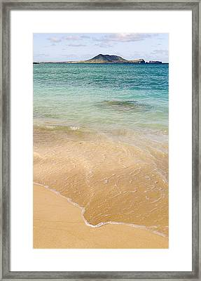 Gentle Water Framed Print by Ron Regalado