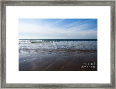 Gentle Waves Framed Print by Anne Gilbert