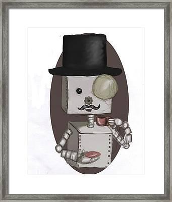 Gentleman Bot Framed Print by Stacy Parker
