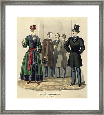Gentleman's Fashion Framed Print by British Library