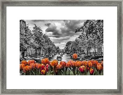 Gentlemen's Canal  Amsterdam Framed Print by Melanie Viola