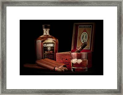 Gentlemen's Club Still Life Framed Print by Tom Mc Nemar