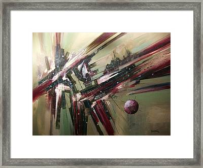 Geode Formation Framed Print by Tom Shropshire