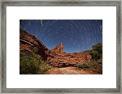 Geology And Space Framed Print by Melany Sarafis