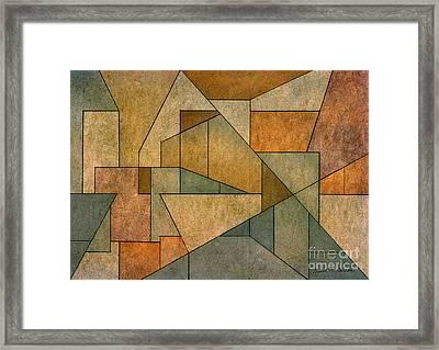 Geometric Abstraction Iv Framed Print by David Gordon