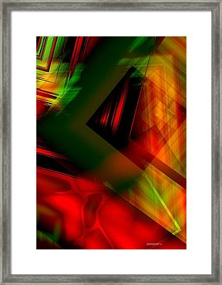 Geometric Art In Light Colors With Transparency Framed Print by Mario Perez