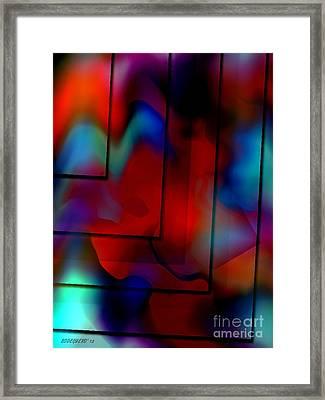 Colorful Geometric Art  Framed Print by Mario Perez