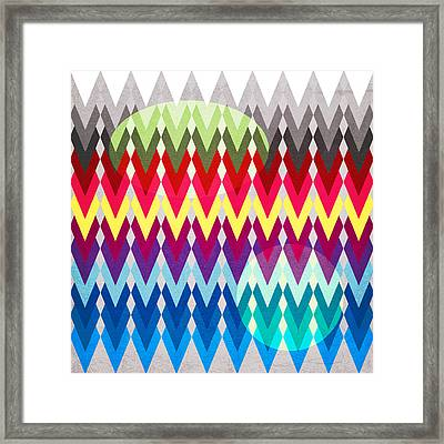Geometric Colors  Framed Print by Mark Ashkenazi