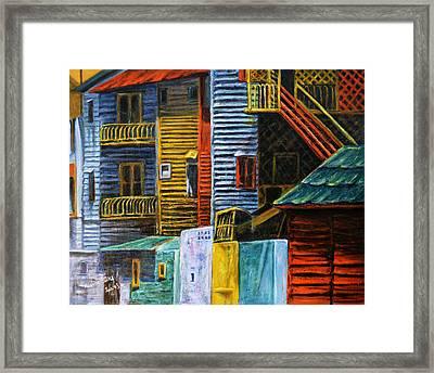 Geometric Colours I Framed Print by Xueling Zou