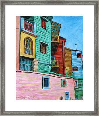 Geometric Colours II Framed Print by Xueling Zou