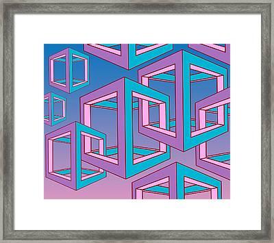 Geometric  Framed Print by Mark Ashkenazi