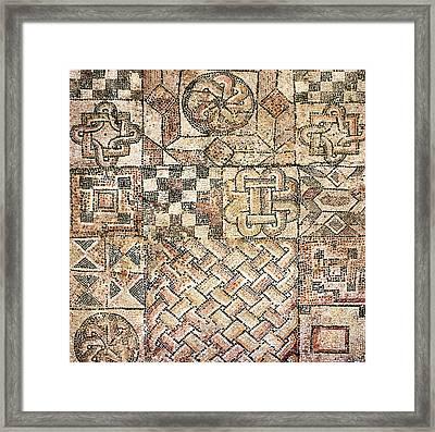 Geometric Mosaic Patterns Framed Print by Sheila Terry