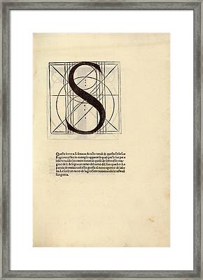 Geometrical Letter 's' Framed Print by Library Of Congress
