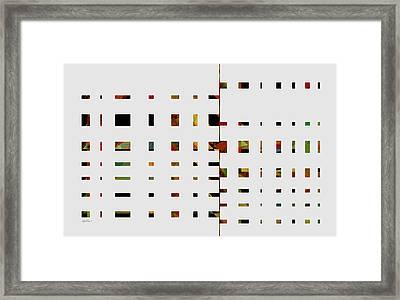 Geometrics -abstract -  Art Framed Print by Ann Powell