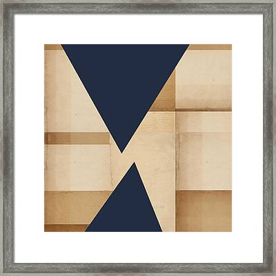 Geometry Indigo Number 2 Framed Print by Carol Leigh
