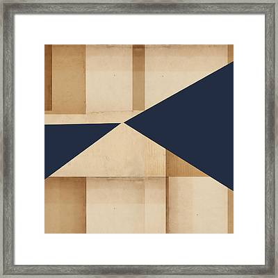 Geometry Indigo Number 4 Framed Print by Carol Leigh