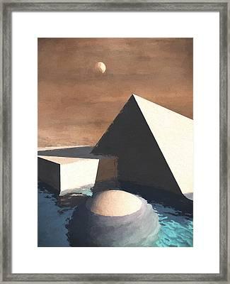 Geometry Pool Framed Print by Richard Rizzo
