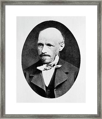 Georg Meissner Framed Print by National Library Of Medicine