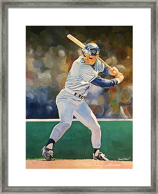 George Brett - Kansas City Royals Framed Print by Michael  Pattison