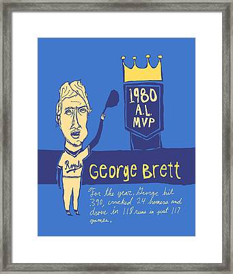 George Brett Kc Royals Framed Print by Jay Perkins