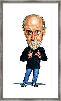 George Carlin Framed Print by Art