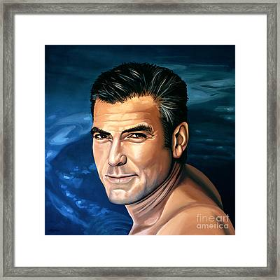 George Clooney 2 Framed Print by Paul Meijering