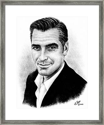 George Clooney Framed Print by Andrew Read