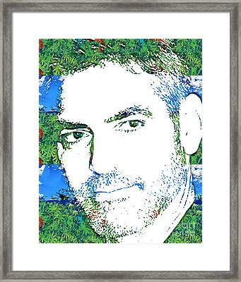 George Clooney Framed Print by Dalon Ryan