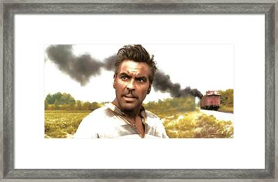 George Clooney In The Film O Brother Where Art Thou Framed Print by Gabriel T Toro