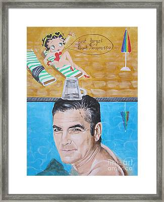 George Clooney Framed Print by Jeepee Aero