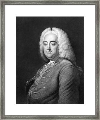 George Frederic Handel Framed Print by Underwood Archives