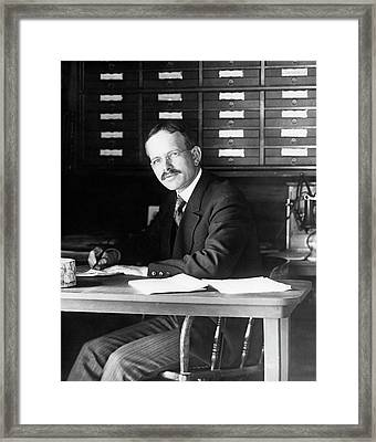 George Hale Framed Print by The University Of Chicago Yerkes Observatory, Courtesy Emilio Segre Visual Archives/american Institute Of Physics