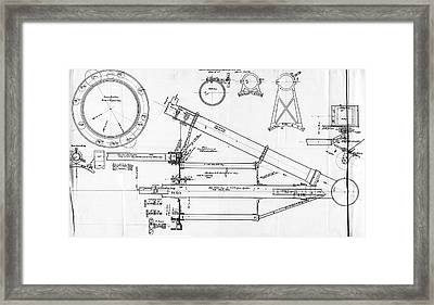 George Hale's Spectroheliograph Framed Print by Emilio Segre Visual Archives/american Institute Of Physics