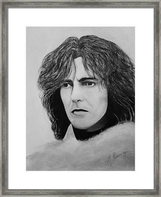 George Harrison Framed Print by Patricia Brewer-Cummings