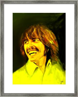 George Harrison - The Beatles Framed Print by Marcello Cicchini