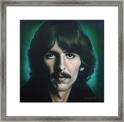 George Harrison Framed Print by Tim  Scoggins