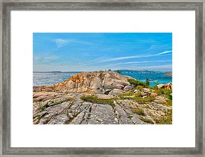 George Island View Of Georgian Bay Framed Print by Nina Silver