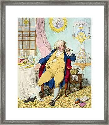 George Iv Framed Print by James Gilray
