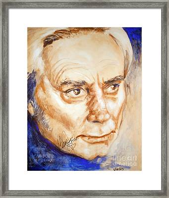 George Jones Framed Print by Carole Diane Heslin