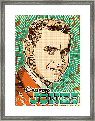 George Jones Pop Art Framed Print by Jim Zahniser