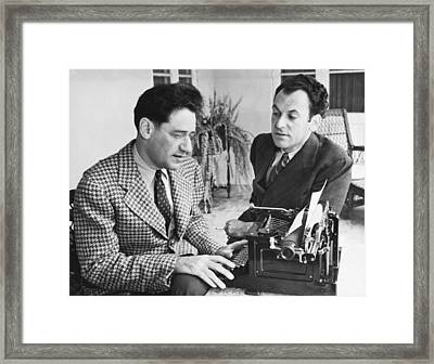 George Kaufman And Moss Hart Framed Print by Underwood Archives