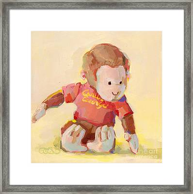 George Framed Print by Kimberly Santini