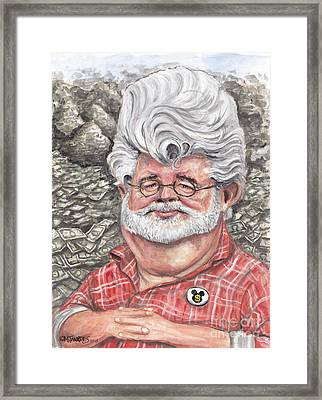 George Lucas Framed Print by Mark Tavares