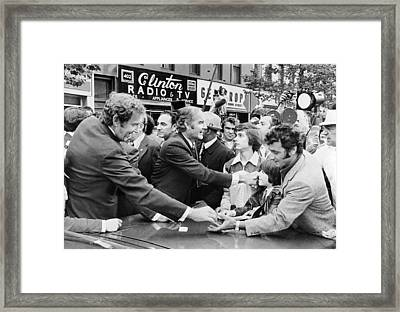 George Mcgovern And Ed Muskie Framed Print by Underwood Archives