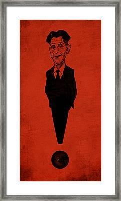 George Orwell Framed Print by Thomas Seltzer