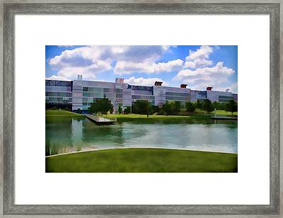 George R Brown Convention Center Framed Print by Audreen Gieger-Hawkins