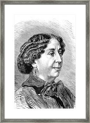 George Sand Framed Print by Collection Abecasis