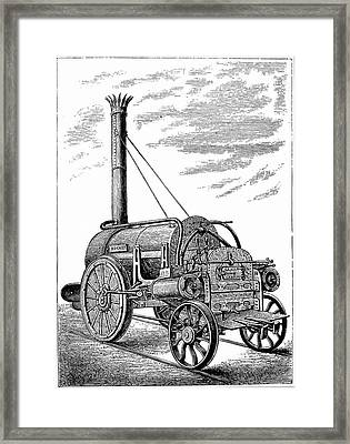 George Stephenson's Locomotive 'rocket' Framed Print by Universal History Archive/uig