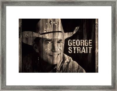 George Strait Barn Door Framed Print by Dan Sproul